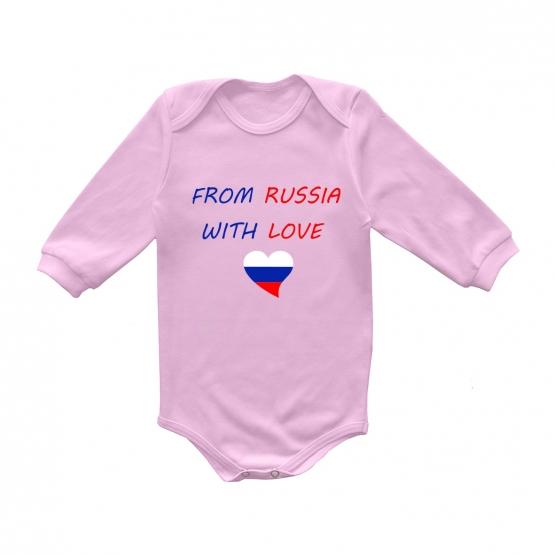 "Боди с длинным рукавом ""From russia with love"""