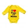 "Боди с длинным рукавом ""I love papa and mama"""