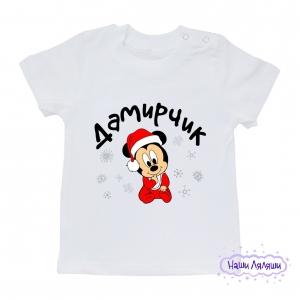 """Футболка """"Малыш Микки новогодний"""""""