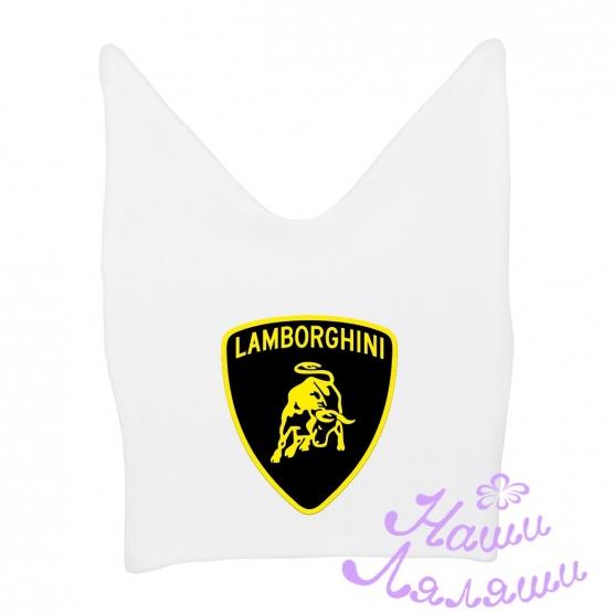"""Шапочка ясельная с рожками """"Lamborghini"""""""