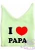 """Шапочка ясельная с рожками """"I love papa"""""""