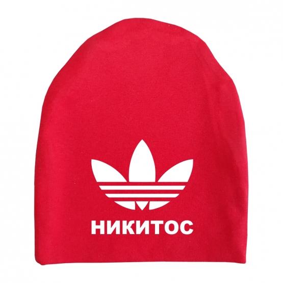 """Шапка удлинённая """"Лилия"""" с любым именем"""