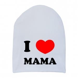 "Шапка удлинённая ""I love mama"""