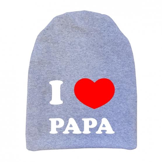 "Шапочка удлинённая ""I love papa"""