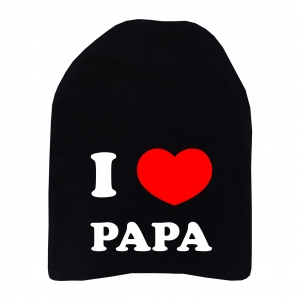 """Шапка удлинённая """"I love papa"""""""